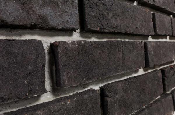 Backstein riemchen Urban graphit schwarz
