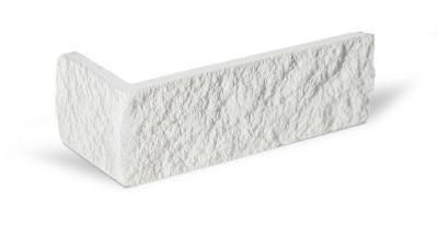 Winkelriemchen Kalksandstein schneeweiß bruchrauh