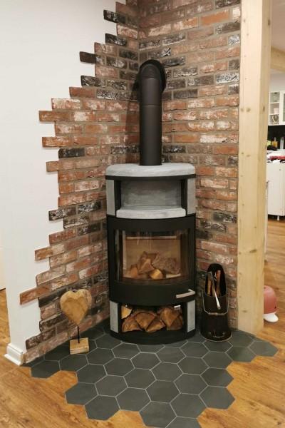 Ziegelverblender-Antik-rustik-Antik-schwarz-Ofenrueckwand