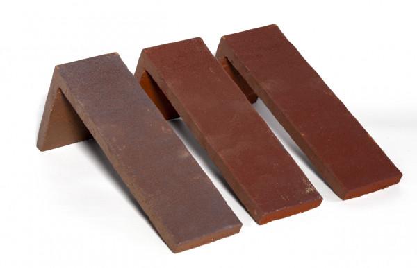 Winkel Spaltriemchen Kupfer rot/bunt