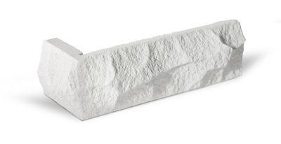 Muster Kalksandstein schneeweiß bossiert - Winkel